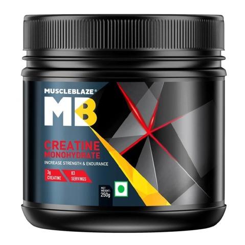 MuscleBlaze Creatine Monohydrate Powder (250gm, Unflavoured)